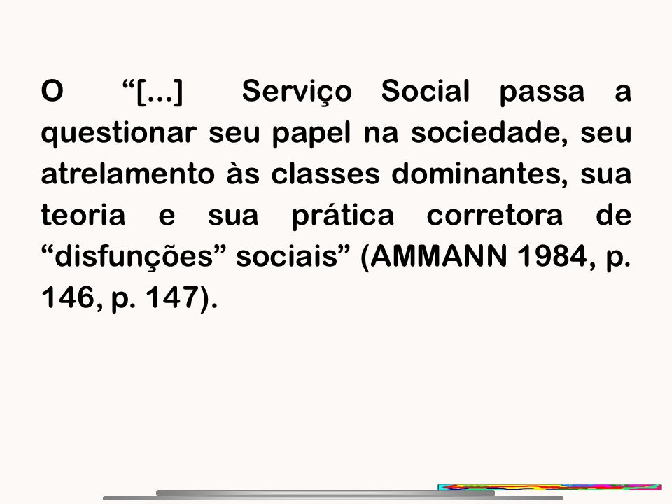 Movimento de reconceituação do serviço social na america latina 4